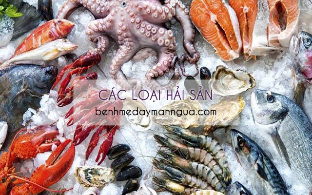 Các loại hải sản không tốt cho bệnh nhân bị phong ngứa