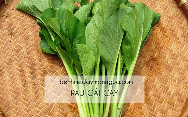 Rau cải cay tốt cho người bị bệnh phong ngứa
