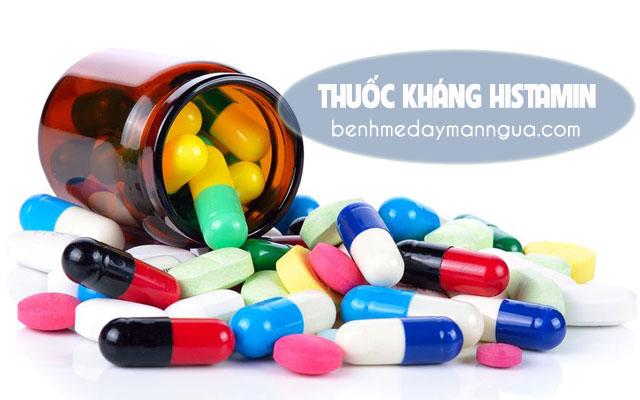 Điều trị chứngnổi mề đayngứa khắp người bằng cách dùng thuốc khángHistamin