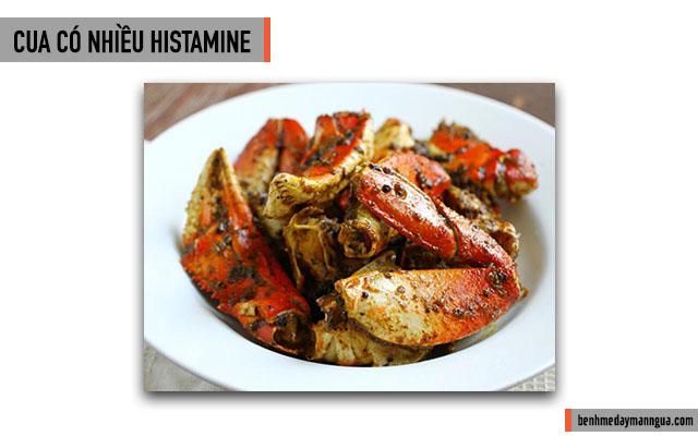 cua có nhiều histamine