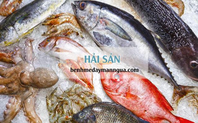Không ăn hải sản khiđiều trị bệnh á sừng da đầu