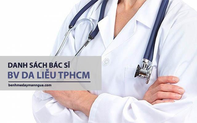 danh sách bác sĩ tại bệnh viện da liễu tphcm
