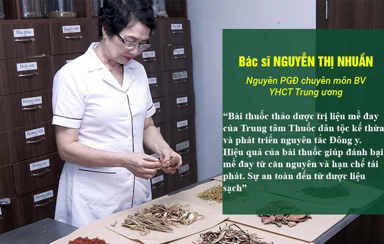 Bác sĩ Nguyễn Thị Nhuần đánh giá cao hiệu quả bài thuốc Tiêu ban Giải độc thang