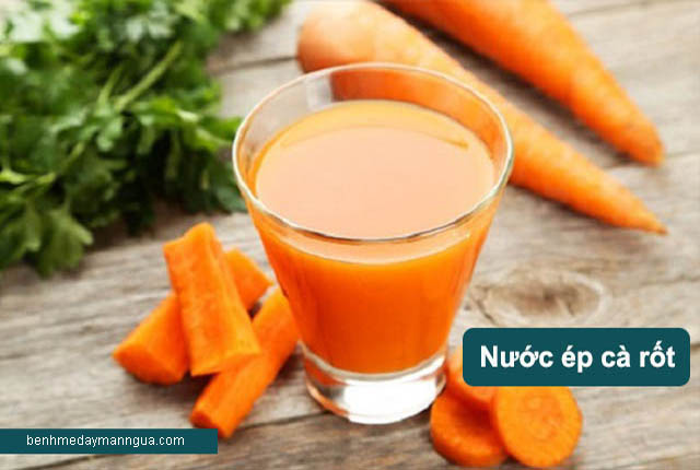 chữa dị ứng thời tiết với nước ép cà rốt