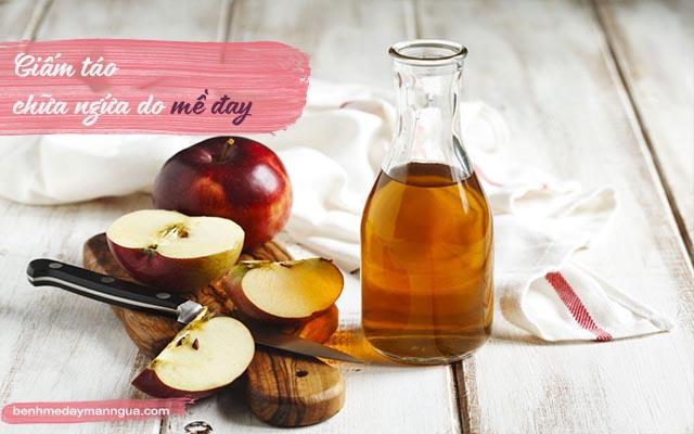 chữa mề đay bằng dấm táo