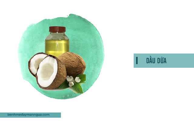 Bài thuốc trị ngứa ngoài da bằng dầu dừa