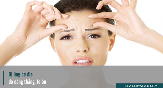 dị ứng cơ địa do căng thẳng, stress