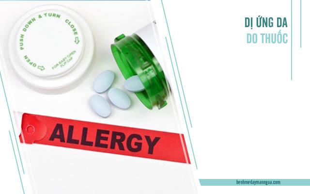dị ứng da do các loại thuốc