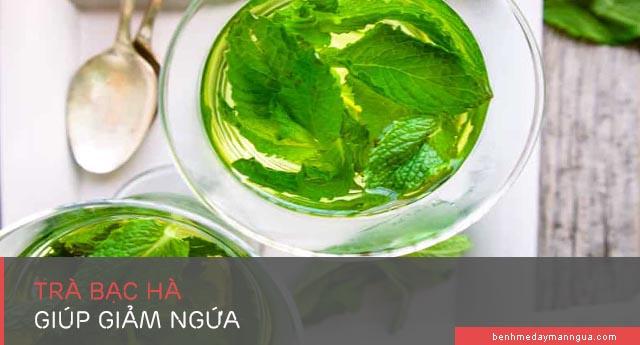 giảm ngứa bằng trà bạc hà