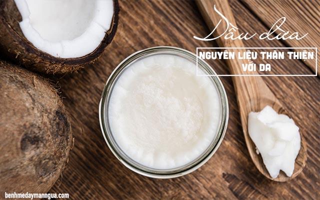chữa ngứa da mặt bằng dầu dừa