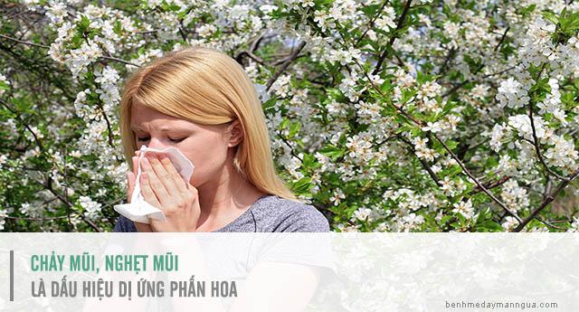 triệu chứng dị ứng phấn hoa