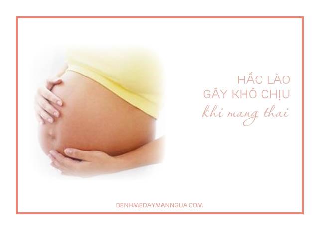 hắc lào khi mang thai gây nhiều khó chịu