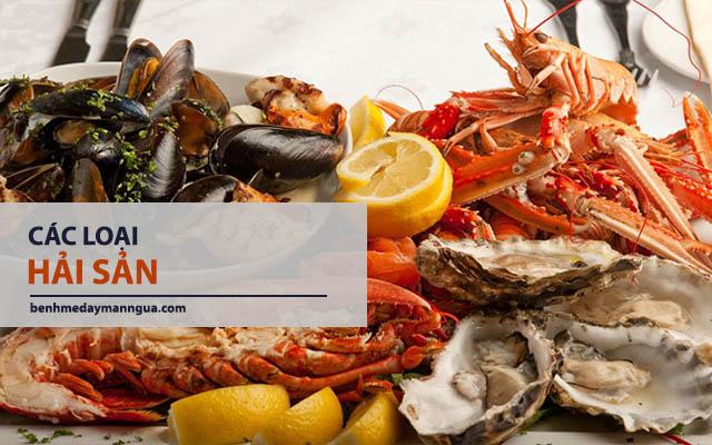 hải sản có mức độ gây ngứa cao