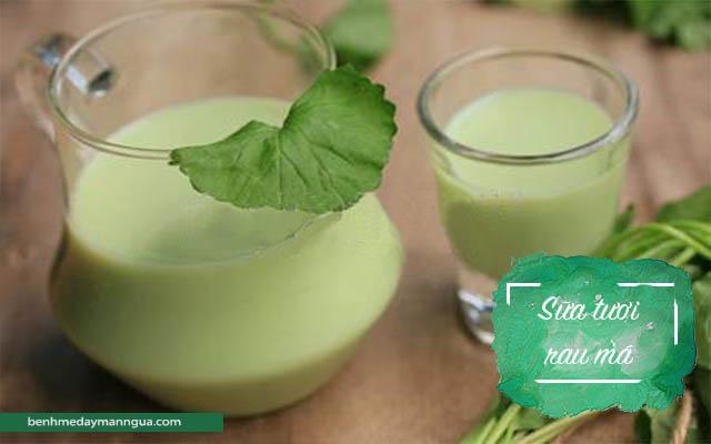 sữa tươi rau má