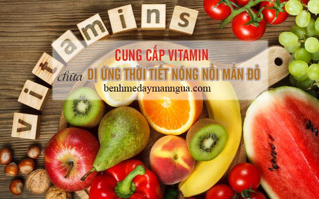Cung cấp vitamin và dưỡng chất giúpbệnh dị ứng thời tiếtnóng nổi mẩn đỏ