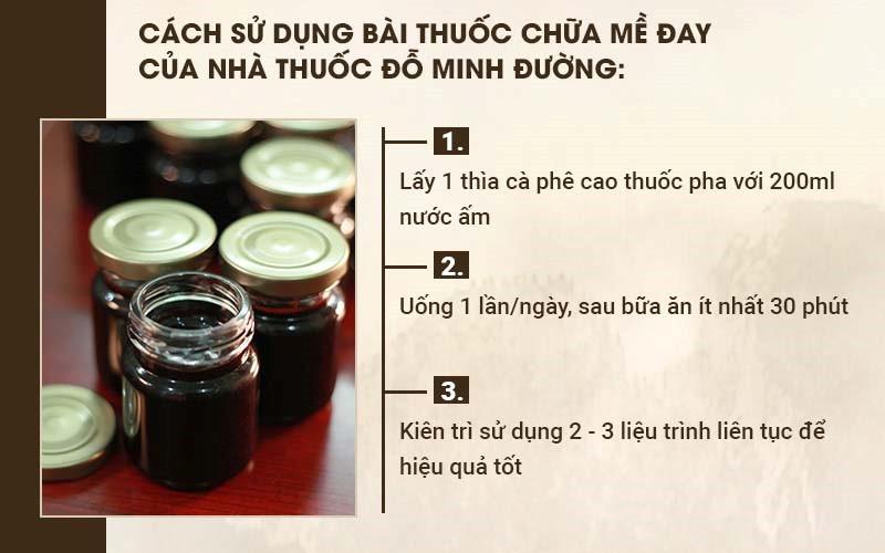 Cao thuốc Đỗ Minh Đường dễ pha uống, bảo quản