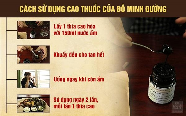 Cách sử dụng cao thuốc của Đỗ Minh Đường