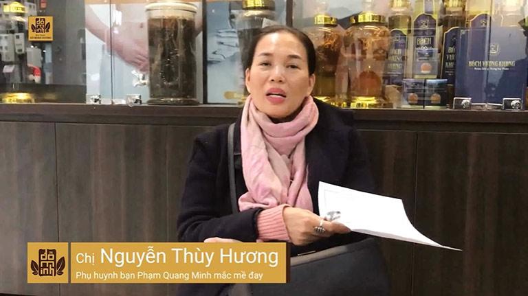 Chị Thùy Hương chia sẻ về quá trình chữa mề đay cho con tại Đỗ Minh Đường