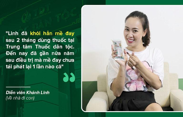 Chị Linh điều trị thành công mề đay sau 2 tháng tại Trung tâm Thuốc dân tộc
